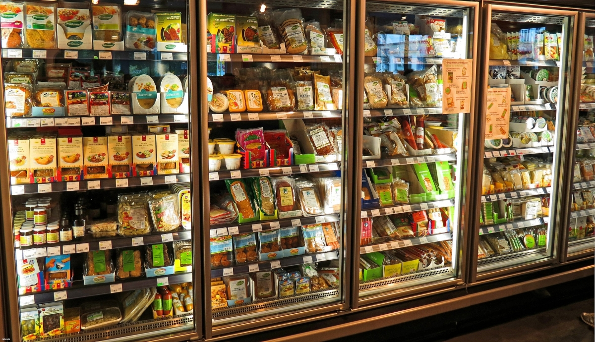 Supermarket refrigerated display cabinet